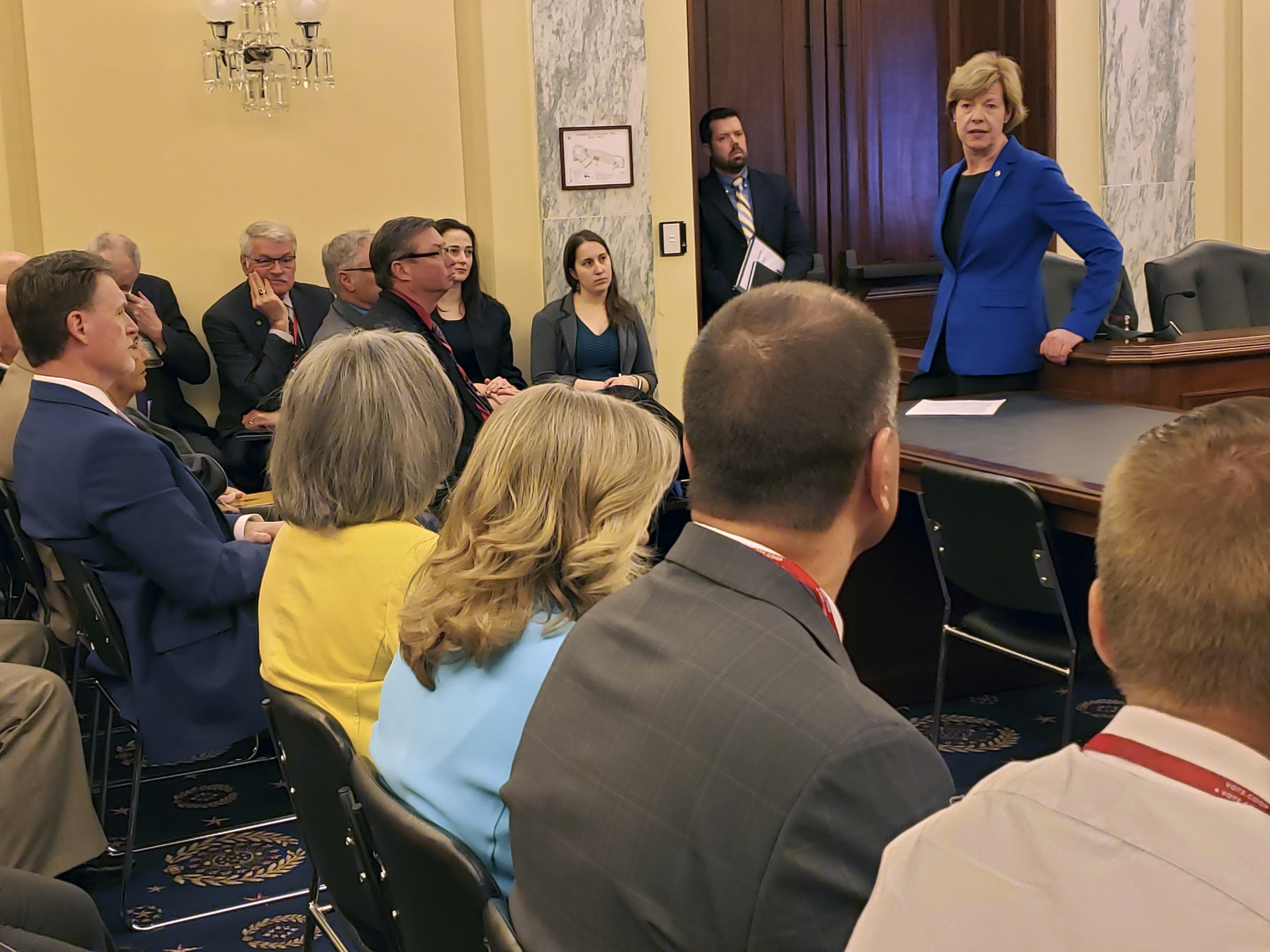 Senator Baldwin met with the Wisconsin delegation.