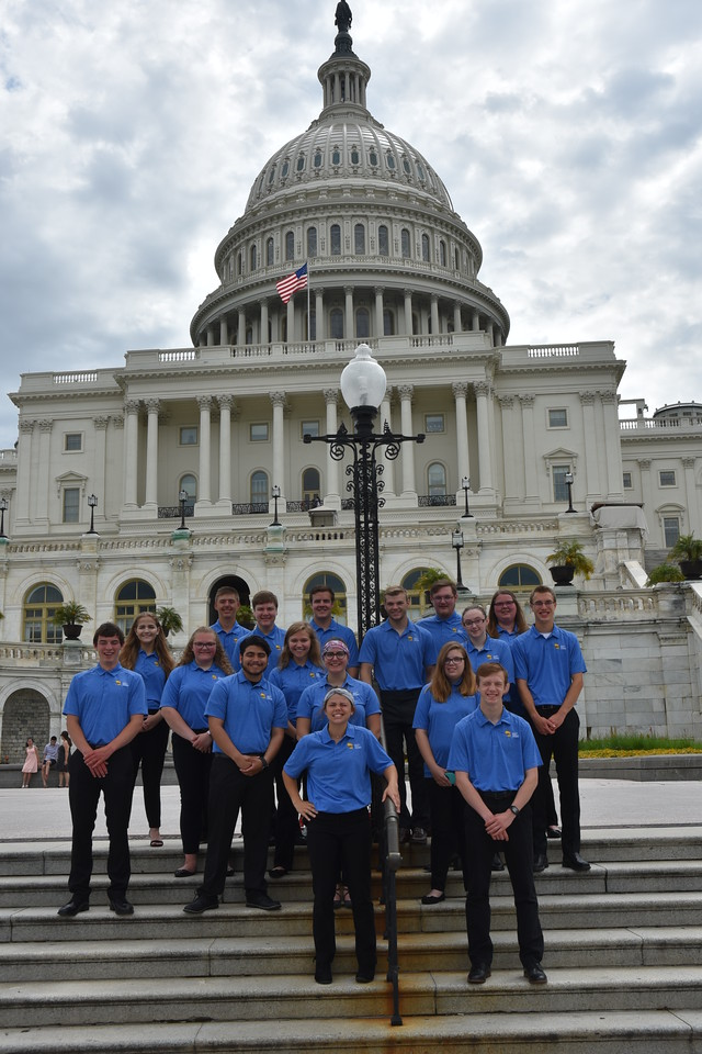 Wisconsin Youth Tour participants at the U.S. Capitol